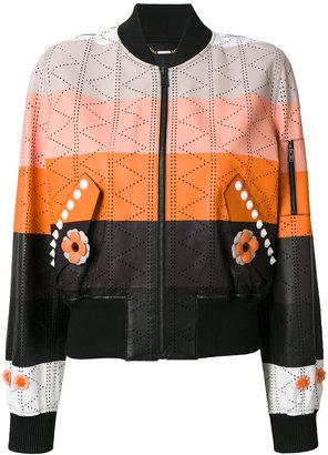 panel bomber jacket