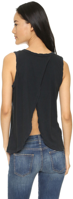 Current/Elliott Cross Back Muscle Tee $94 thestylecure.com