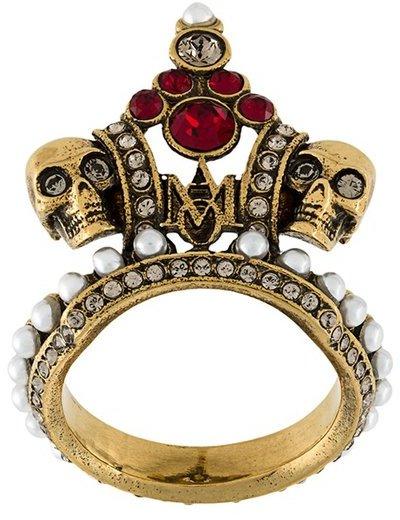 Alexander McQueenAlexander McQueen crown skull ring