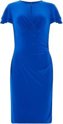 Lauren Ralph Lauren Frill Cap Sleeve Jersey Dress