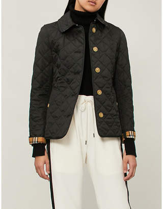 Burberry Check-print quilted shell jacket
