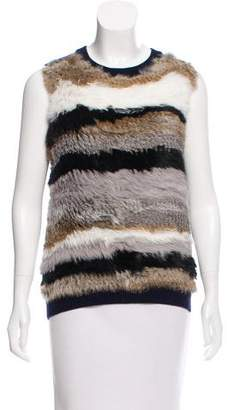Opening Ceremony Sleeveless Fur-Accented Top w/ Tags