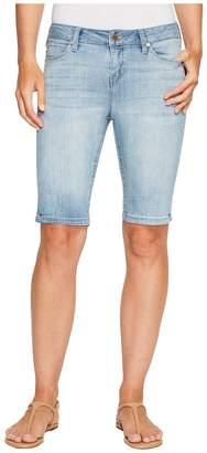 Liverpool Bobbie Bermuda Shorts in Vintage Super Comfort Stretch Denim in Mandalay Light Women's Shorts