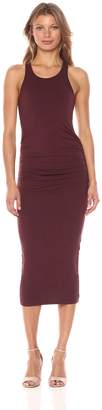 Michael Stars Women's Cotton Lycra Racerback Midi Dress