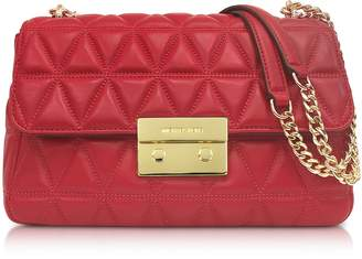 Michael Kors Bright Red Sloan Large Quilted-Leather Shoulder Bag
