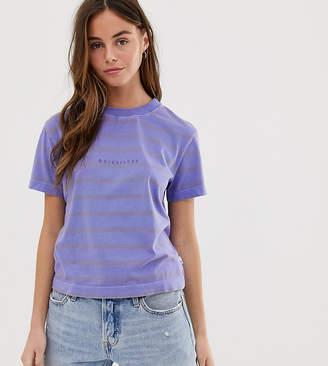 Quiksilver Acid Stripes t-shirt in purple