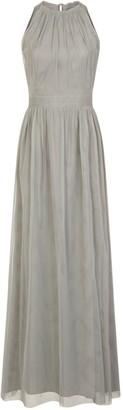 Heather Mesh Halter Maxi Dress
