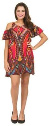 Papillon Coldshoulder Colorful Dress/tunic