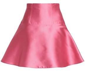 RED Valentino Lace-Up Satin-Twill Mini Skirt