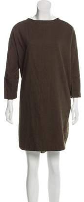 Black Crane Oversize Midi Dress