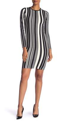 Velvet Torch Vertical Stripe Bodycon Dress