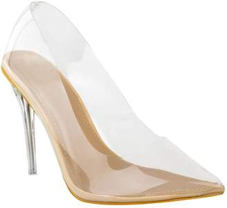 2b4ac4290a4 clear Fashion Thirsty Womens Court Shoes Perspex High Heel Stilettos Pumps  Party Size 5