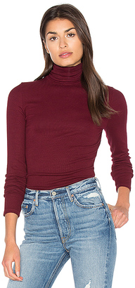 Michael Stars Long Sleeve Turtleneck in Maroon. $88 thestylecure.com