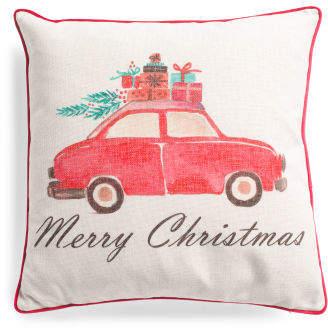 20x20 Merry Christmas Car Pillow