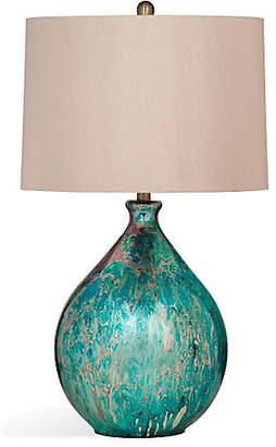 One Kings Lane Mira Mercury Glass Table Lamp - Blue