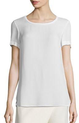 Polo Ralph Lauren Silk Hi-Lo Tee $165 thestylecure.com