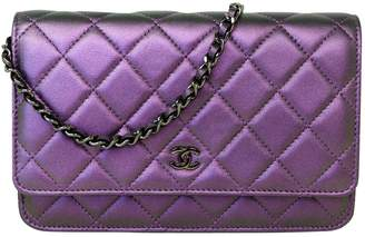 691fc701621b Chanel Wallet on Chain Purple Leather Handbag