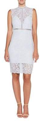 Bardot Lace Panel Sheath Dress