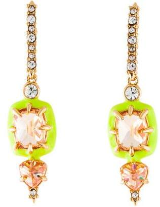 Alexis Bittar Crystal & Enamel Drop Earrings