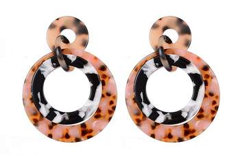Jon Richard Jewellery Tortoiseshell Drop Hoop Earrings