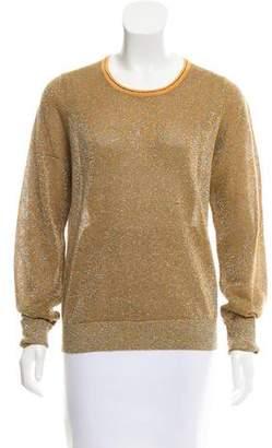Dries Van Noten Metallic Crew Neck Sweater