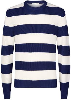 Sandro Stripe Crew Neck Sweater