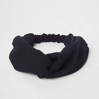 River Island Black wide twist headband