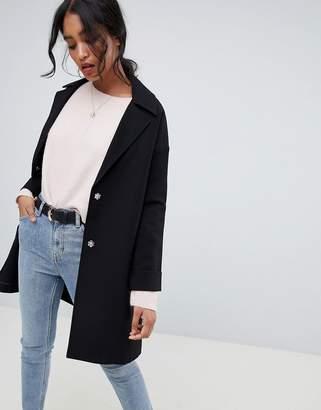 Asos Design DESIGN crepe boyfriend coat