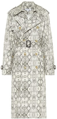 Les Rêveries Snakeskin-print cotton trench coat