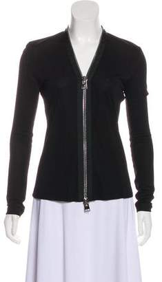 Tom Ford Long Sleeve Zip-Up Top