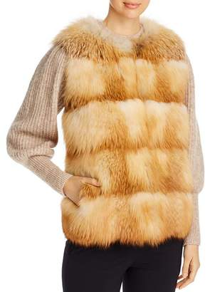 Maximilian Furs Maximilian Grooved Nafa Fox Vest - Bloomingdale's Exclusive