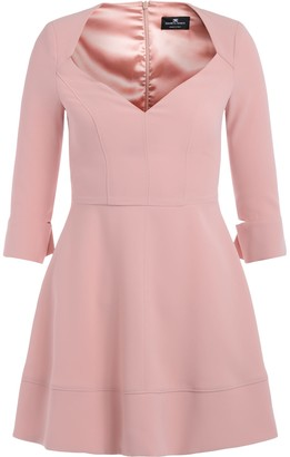 Elisabetta Franchi Celyn B. Antique Pink Dress With Low-cut Bodice