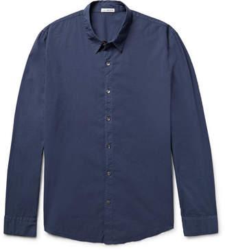 James Perse Cotton-Poplin Shirt - Men - Navy