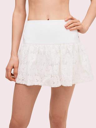 Kate Spade Textured Lace Tennis Skirt, Fresh White - Size L