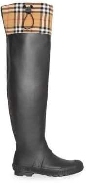 Burberry Women's Freddie Rubber Rain Boots - Black - Size 38 (8)