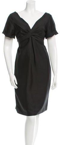 GucciGucci Silk V-Neck Dress w/ Tags