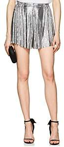 Paco Rabanne Women's Metal Mesh High-Rise Shorts - Silver