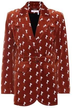 Chloé Embroidered velvet blazer