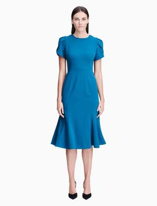 Calvin Klein tulip sleeve midi dress