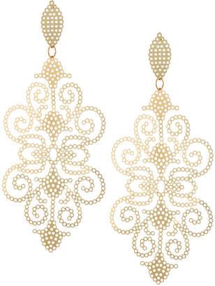Panacea Large Perforated Filigree Drop Earrings