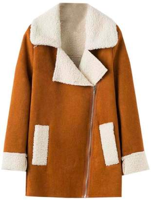 Goodnight Macaroon 'Lagina' Faux Suede Shearling Coat (2 Colors)