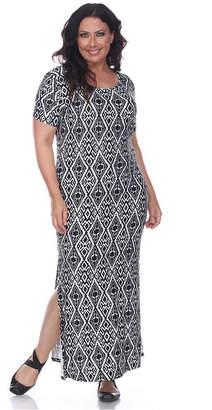 White Mark Women Plus Size Jasmine Maxi Dress