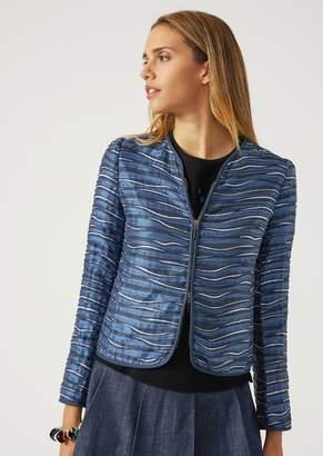 Emporio Armani Jacket In Wave Fabric