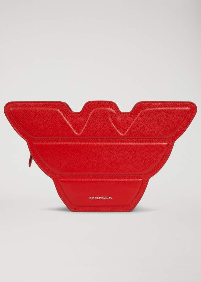 EMPORIO ARMANI eagle-shaped shoulder bag in leather