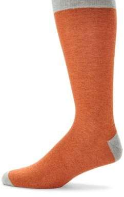 Saks Fifth Avenue COLLECTION Contrasting Heel Mid-Calf Socks