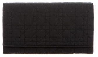 Christian Dior Cannage Canvas Wallet