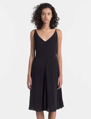 Calvin Klein crepe slip dress