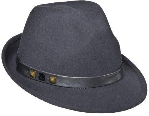 Mossimo Felt Fedora With Leather Trim - Grey
