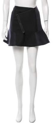 The Kooples Asymmetrical Knit Mini Skirt