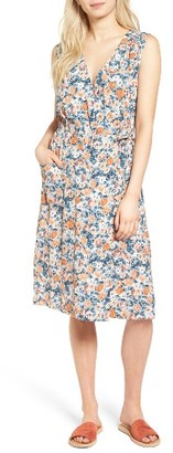 Women's Current/elliott The Sleeveless Wrap Front Dress $268 thestylecure.com